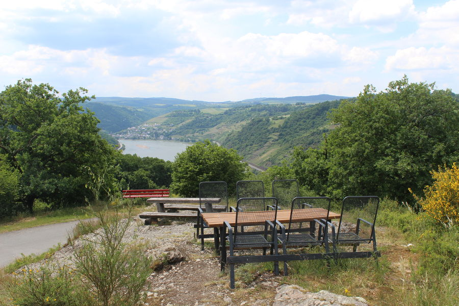 Ruhebank an der schönsten Rheinsteigetappe