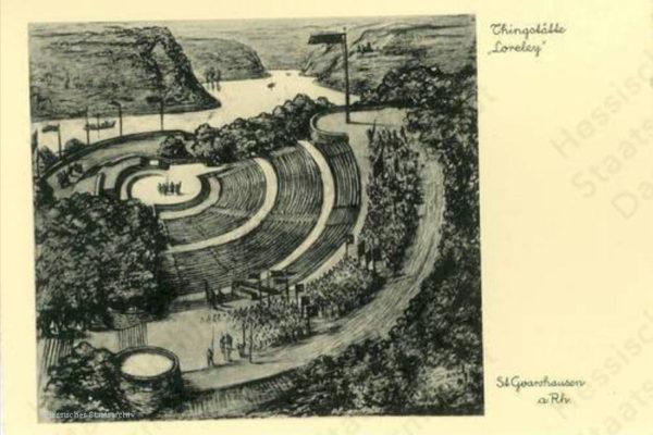Entwurf der Lorey Freilichtbühne von 1935