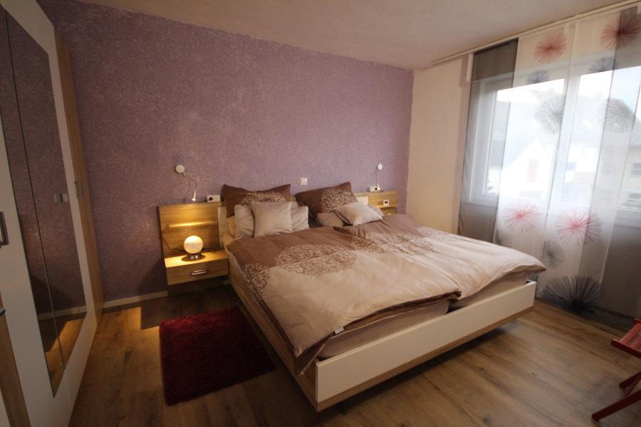 Ansicht Schlafzimmer Ferienwohnung Loreley