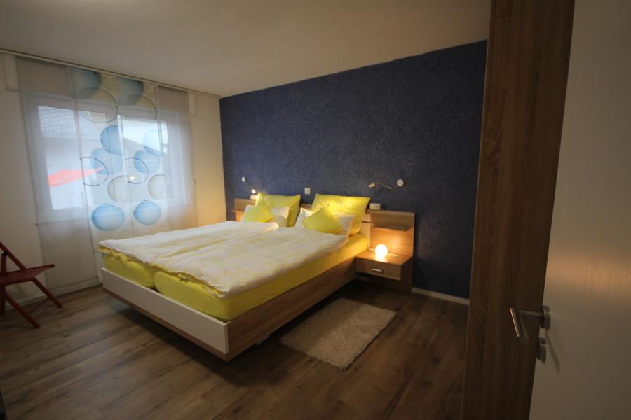 Schlafzimmer Fereinwohnung Loreley