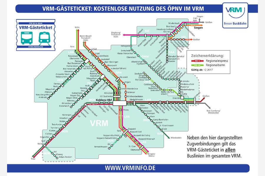 Liniennetz VRM Gästeticket